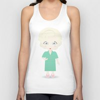 golden girls Tank Tops featuring Girls in their Golden Years - Rose by Ricky Kwong