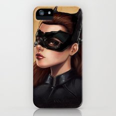 Cute Catwoman Painting  iPhone (5, 5s) Slim Case