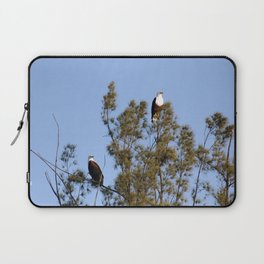 African Fish Eagles Perching on Tree Laptop Sleeve
