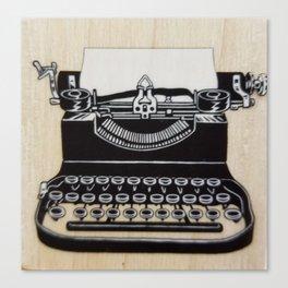 Type me a letter Canvas Print