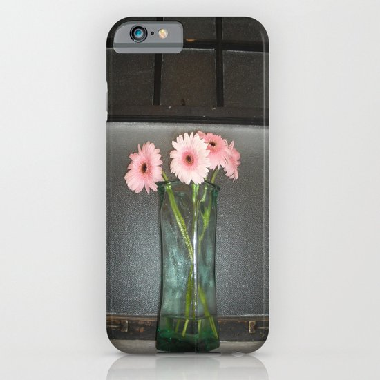 pink daisies ~ flowers on vintage sill iPhone & iPod Case