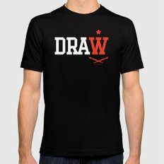DRAW Black MEDIUM Mens Fitted Tee