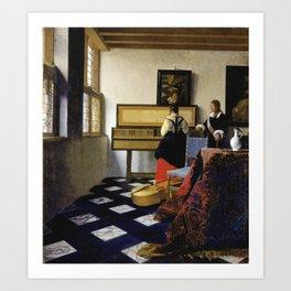 Johannes Vermeer  - The Music Lesson Art Print