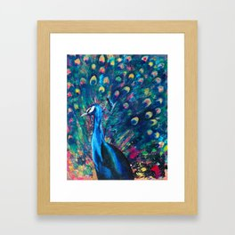 Psychedelic Peacock Framed Art Print
