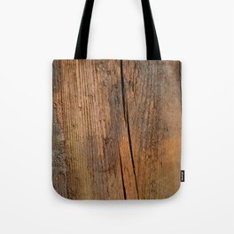 Linden wooden pattern with crack Tote Bag