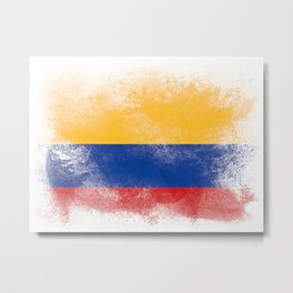 Columbia flag isolated Metal Print