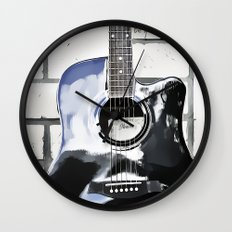 Be Your Song and Rock On in White II Wall Clock