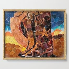 """"""" Cowboy Sunset """" Serving Tray"""