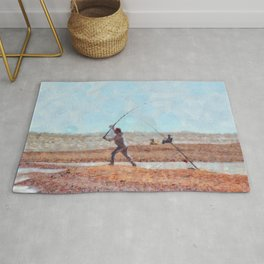 Beach Casting At Dungeness Rug