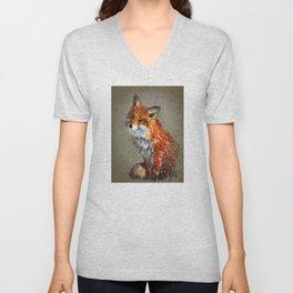 Fox background Unisex V-Neck