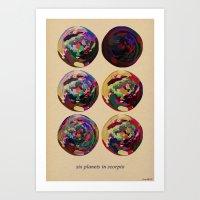 scorpio Art Prints featuring - scorpio - by Digital Fresto