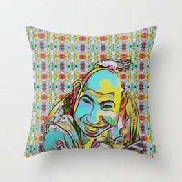Portrait of a Sideshow Performer - Schlitzie Throw Pillow