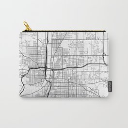 Grand Rapids Map, USA - Black and White Carry-All Pouch