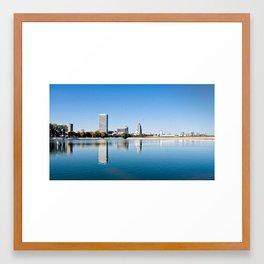 Milwaukee, Reflected Framed Art Print