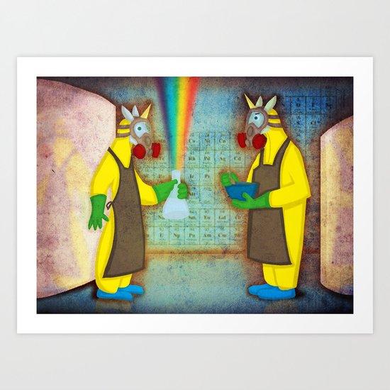 Breaking Good Unicorn V2 Art Print