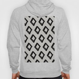 Modern Diamond Pattern Black on Light Gray Hoody