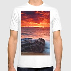 Red Clouds VI MEDIUM Mens Fitted Tee White