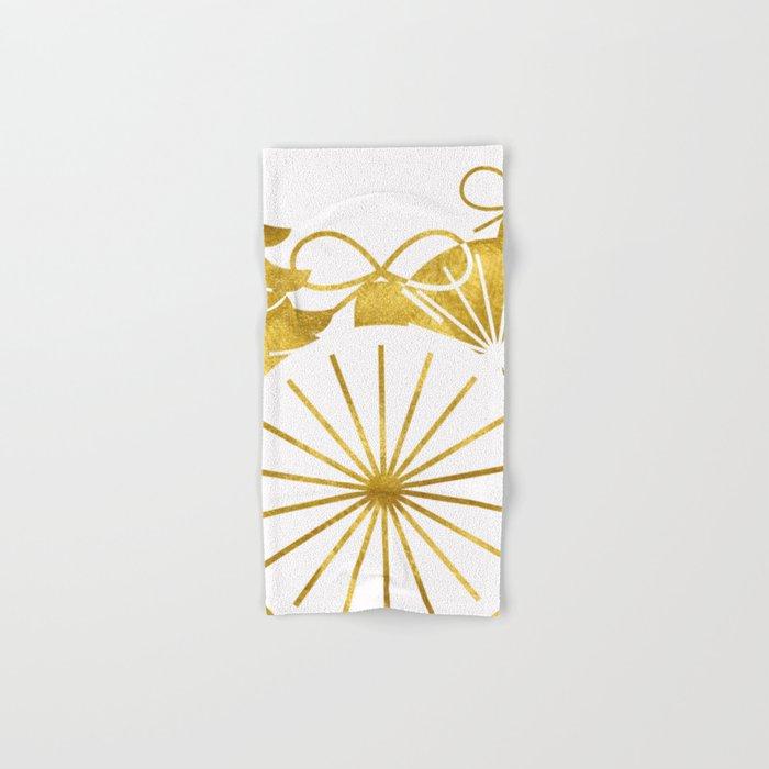 Gold Christmas 01 Hand & Bath Towel