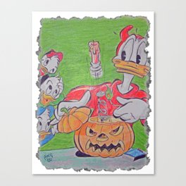 Donald Duck Halloween Trick I Canvas Print