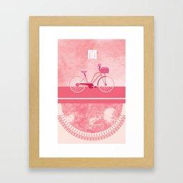 Bike (Dark) Framed Art Print