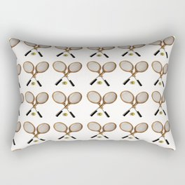 vintage Tennis rackets and ball Rectangular Pillow