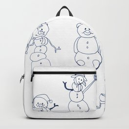 Snowman Winter Fashion - Funny Happy Christmas Gift Backpack