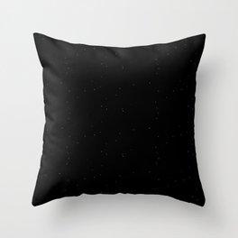Blue Black Shambolic Bubbles Throw Pillow