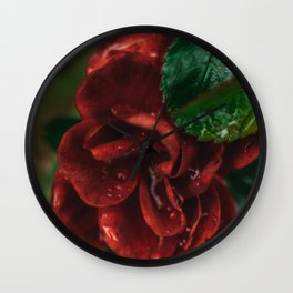 Rose Flower Printable Wall Art | Floral Plant Botanical Nature Outdoors Macro Photography Print Wall Clock