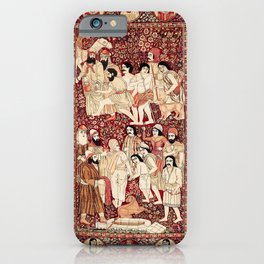 Kerman South Persian Pictorial Rug with Joseph iPhone Case
