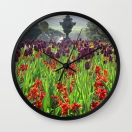 Powerscourt Tulips Wall Clock