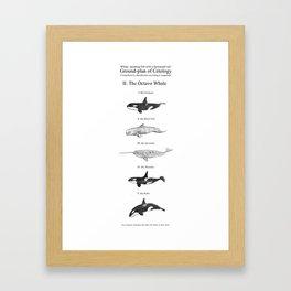 II. The Octavo Whale Framed Art Print