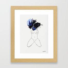 Mind Blown Blue Framed Art Print
