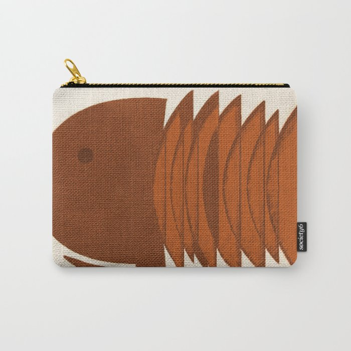 Ocher Fish Carry-All Pouch