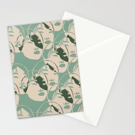 Stencil Faces Stationery Cards