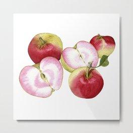 Pink Pearl Apple Metal Print