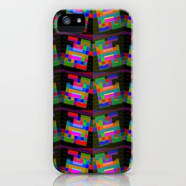 Colored-H-pattern iPhone Case