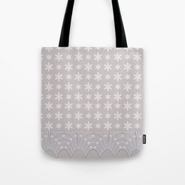 Lacy Mocha Pattern with Creamy Chenille Stars Tote Bag