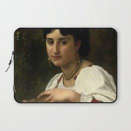 "William-Adolphe Bouguereau ""Italienne au Tambourin (Italian woman with tambourine)"" Laptop Sleeve"