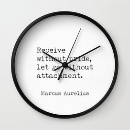 Quote about ego Marcus Aurelius Wall Clock