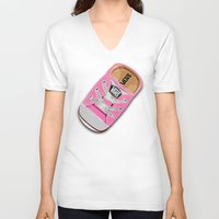 vans V-neck T-shirts featuring Cute pink Vans all star baby shoes apple iPhone 4 4s 5 5s 5c, ipod, ipad, pillow case and tshirt by Three Second