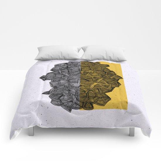 - blue grilled ocean - Comforters