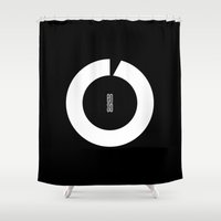 switzerland Shower Curtains featuring ENSO IN SWITZERLAND by THE USUAL DESIGNERS