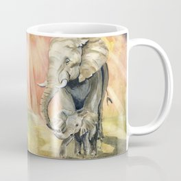 Mom and Baby Elephant Coffee Mug