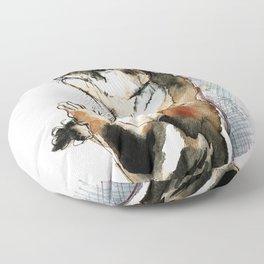 Amblonyx cinereus otter Floor Pillow