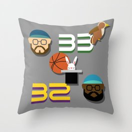 Magic & Bird Throw Pillow