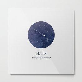 Aries Constellation Metal Print