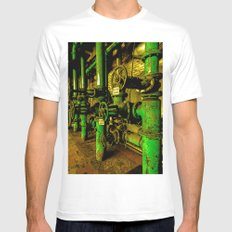 Pipe Dream SMALL White Mens Fitted Tee