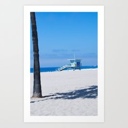 Lifeguard Tower I Art Print