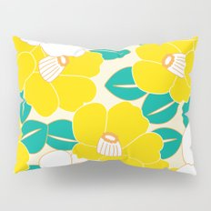 Japanese Style Camellia - Yellow and White Pillow Sham