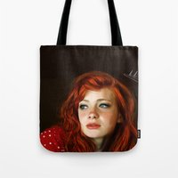 redhead Tote Bags featuring RedHead by Allaa Adel